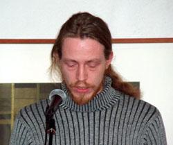 Norgesmester: Lars O. Haugen fra Vadsø er første norgesmester i poesislam fra Nord Norge.